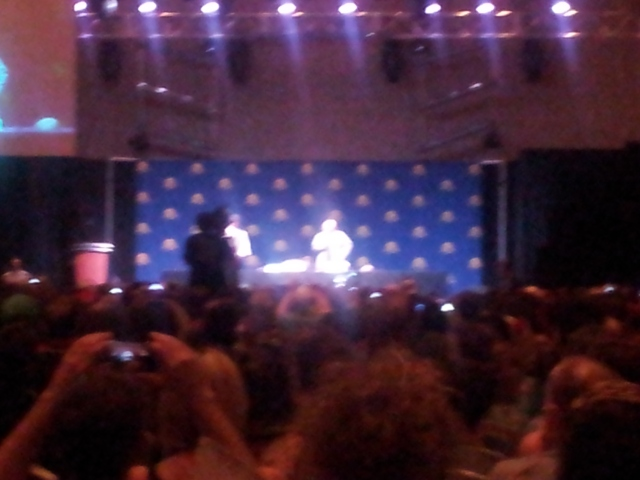 the bright dot on the right is Patrick Stewart.